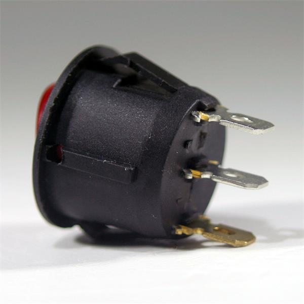 runder beleuchteter Miniwippenschalter mit äußerst hoher Schaltpräzision