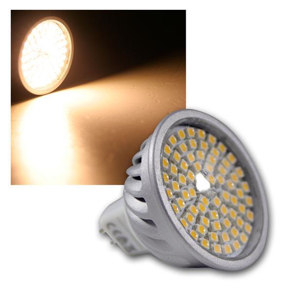 LED-Strahler MR16 70 LEDs H50 SMD warm weiß