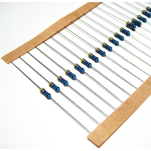 Widerstand der Bauform 0207 mit DIN-IEC Farbcode, 5 Farben