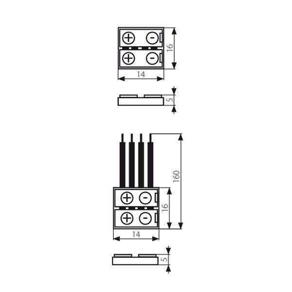Anschlussclips für flexible 10mm RGB LED Streifen mit IP20