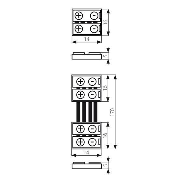 Verbindungsclip für flexible 10mm LED Streifen mit IP20