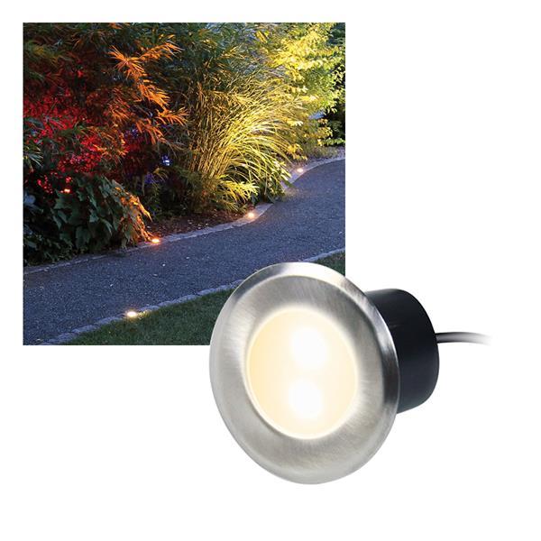 4er Set LED Edelstahl-Einbaustrahler warm weiß