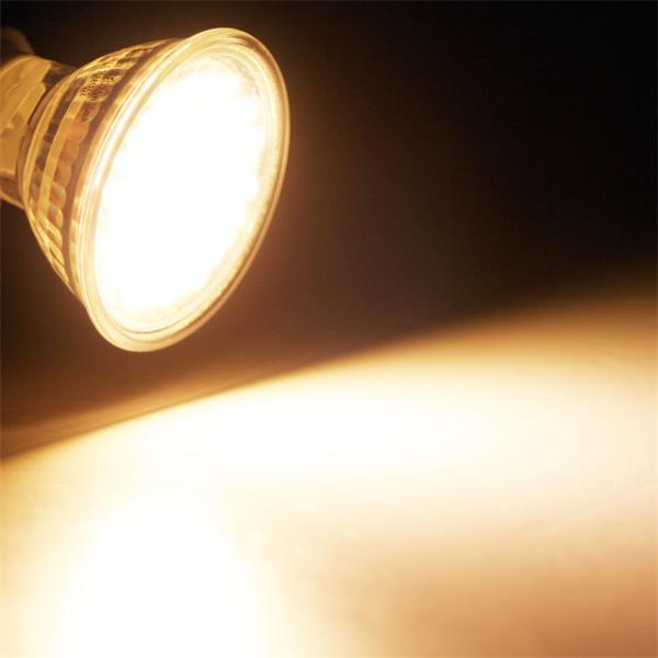 GU10 LED Spot mit 220lm Lichtstrom vergleichbar mit 30-40W Halogenspiegellampen