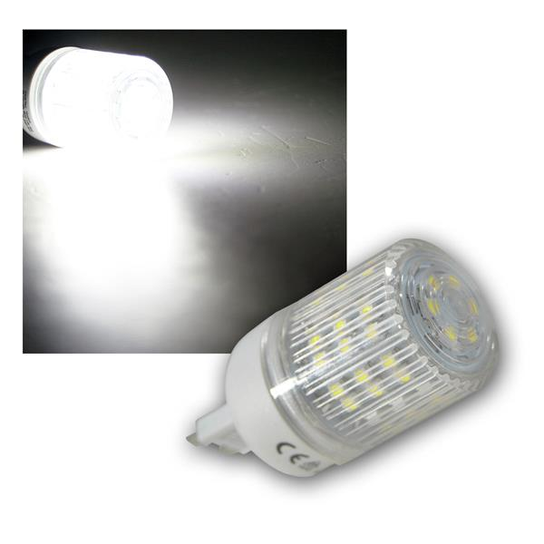 LED-Stiftsockellampe G9 mit 48 SMD LEDs pur-weiß