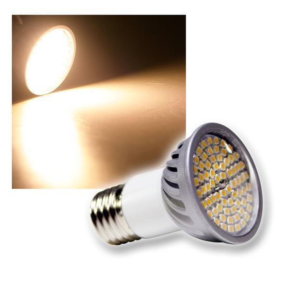 LED Strahler E27 70 SMD LEDs H50 Pro warm weiß 385lm