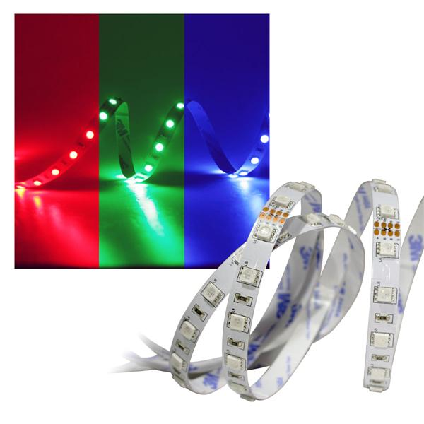 5m SMD RGB Stripe 24V Superbright, PCB-w, 60 LED/m