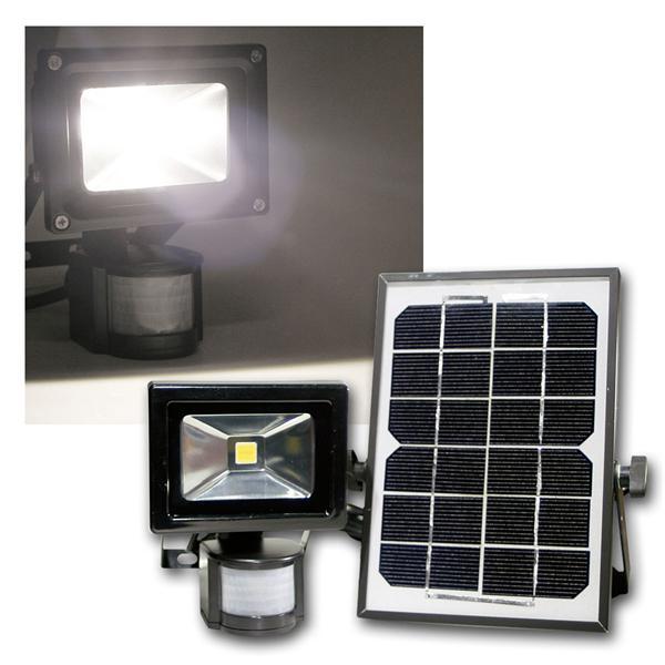 LED Solar Fluter 10W mit Akku, 1000lm, daylight