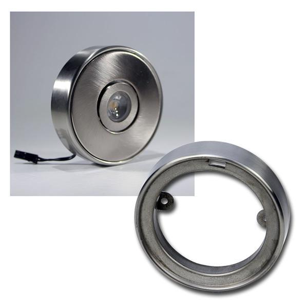 Aufbaurahmen rund, Edelstahl gebürstet, Ø76/h18mm