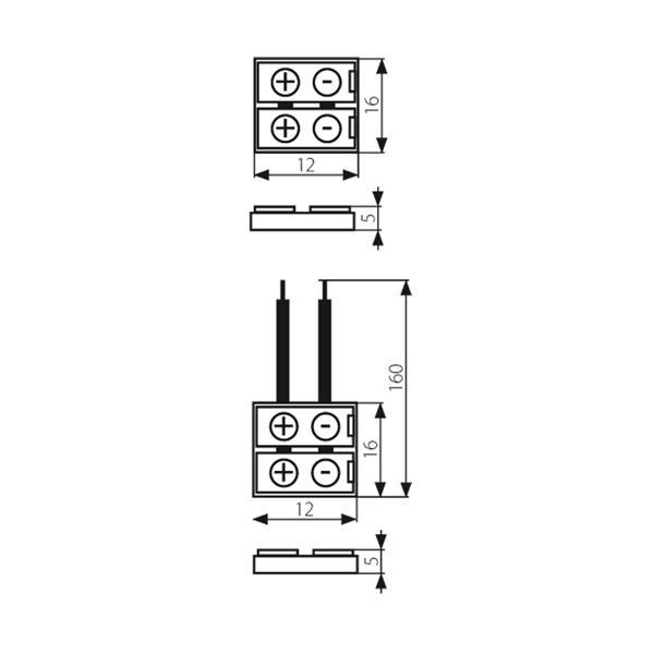 Anschlussclips für flexible 8mm LED Streifen mit IP20