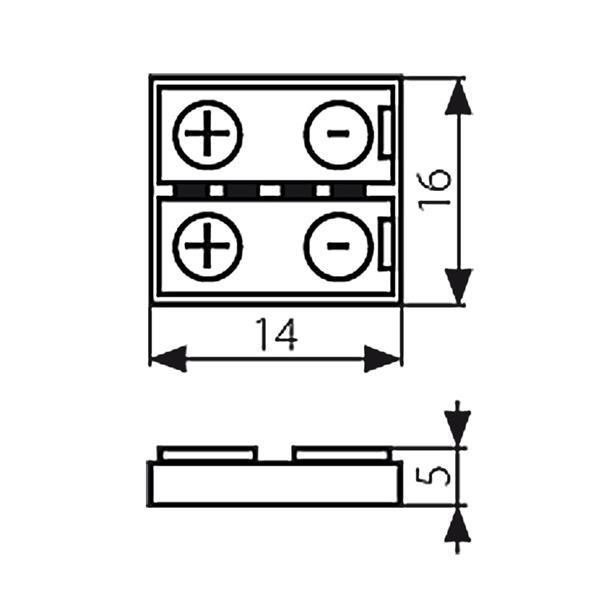 Klemme für werkzeugfreies Anschließen vom RGB LED Strip