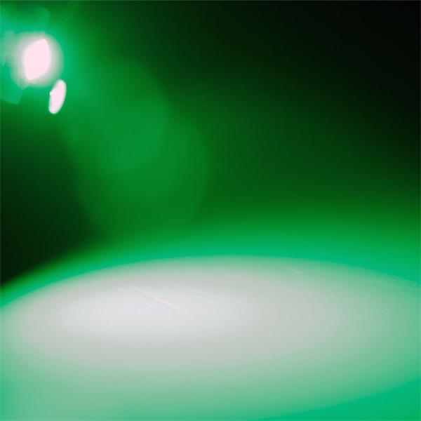 B8.3d LED Stecksockellampe mit sehr hellem breit strahlendem grünem Licht