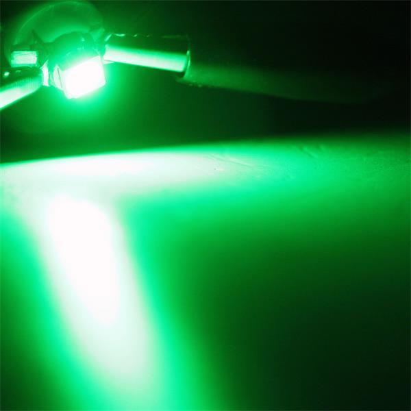 B8.5d LED Stecksockellampe mit sehr hellem breit strahlendem grünem Licht