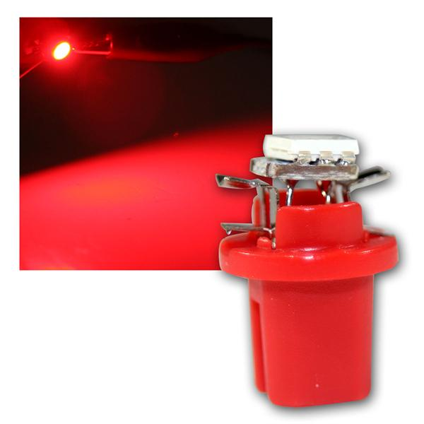 PNP LED Birne B8.5d BAX10d T5 rot Lampe 12V