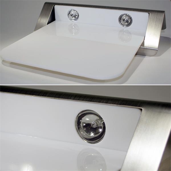 beleuchtete Hausnummer LED IP44 mit 2 stromsparenden neutralweißen LEDs