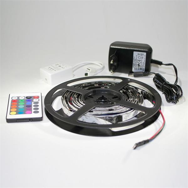 flexibler RGB LED Streifen als Komplett Set