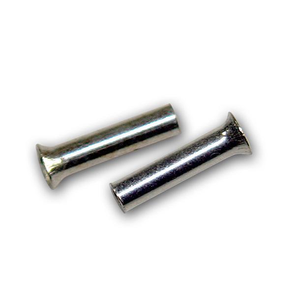 100 Aderendhülsen unisoliert versilbert 0,5mm² 6mm
