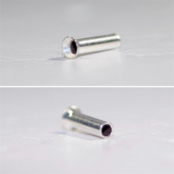 Hülsen mit galvanisch verzinnter Oberfläche und ohne Isolierung