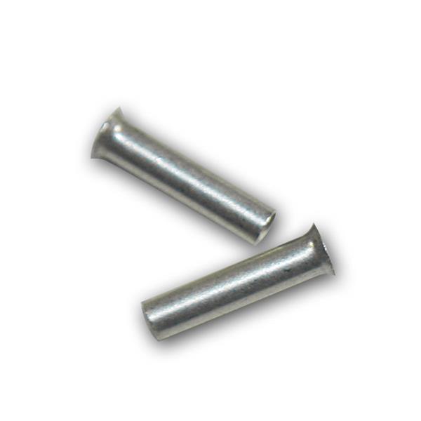 100 Aderendhülsen unisoliert versilbert 1,0mm² 6mm