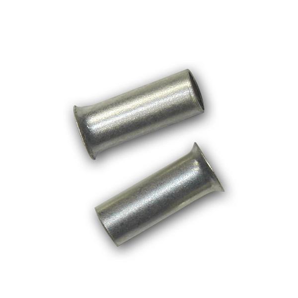 100 Aderendhülsen unisoliert versilbert 2,5mm² 7mm