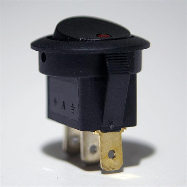 Knopfschalter mit Flachsteckanschlüssen 4,8mm für Kabelschuhe
