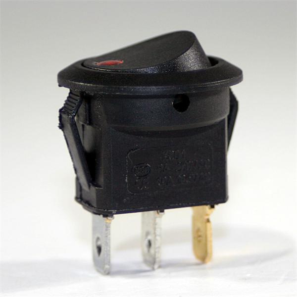 1-poliger runder Miniwippenschalter mit hoher Schaltpräzision