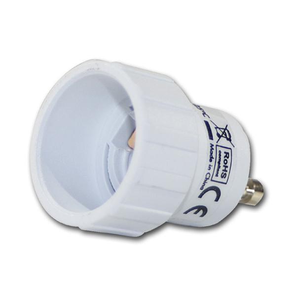 Lampenfassung Adapter E14 auf GU10 Fassung