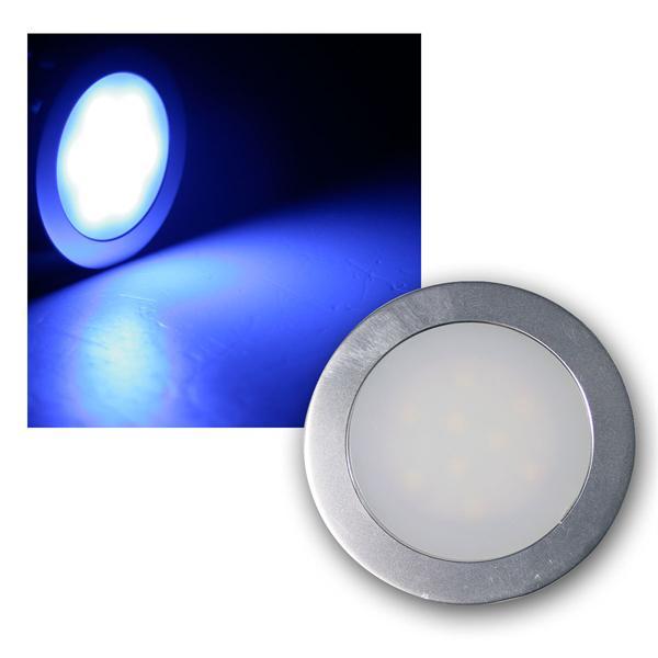 Einbauleuchte EBL Slim IP67 9 LEDs blau Alu