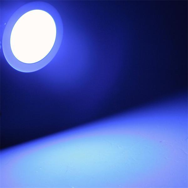 LED Einbaustrahler mit 9 blauen LEDs und ca. 10lm Lichtstrom