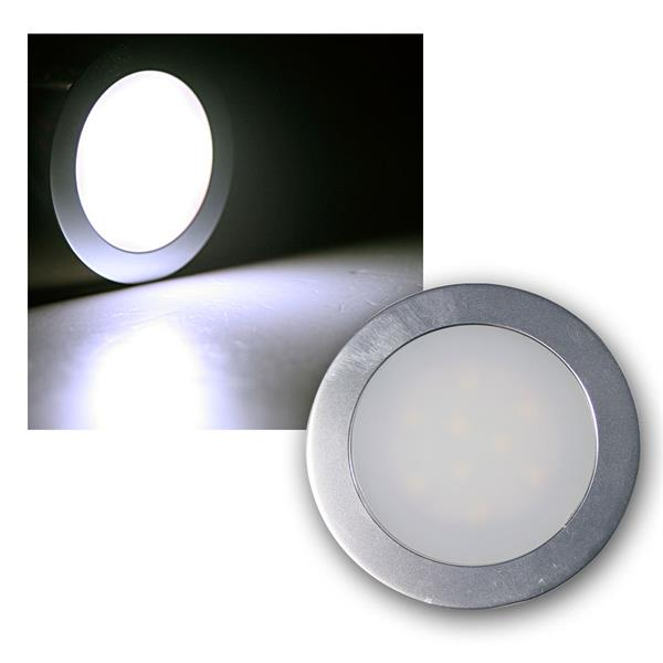 """Einbauleuchte """"EBL Slim"""" IP67 9 LEDs kaltweiß, Alu"""