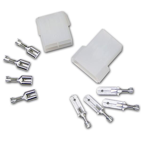 1 Paar Steckverbinder 4-polig, mit Verriegelung