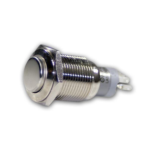 Vollmetall Druck-Schalter, max. 230V/3A, 1-polig