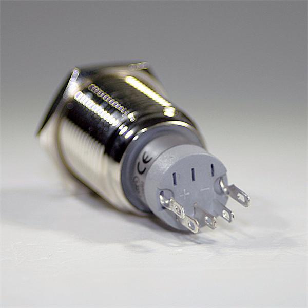 1-poliger Metallschalter als Öffner/Schließer mit Lötanschluss für Kabel