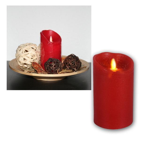 """LED-Wachskerze """"Twinkle Flame"""", rot, 15x8cm"""