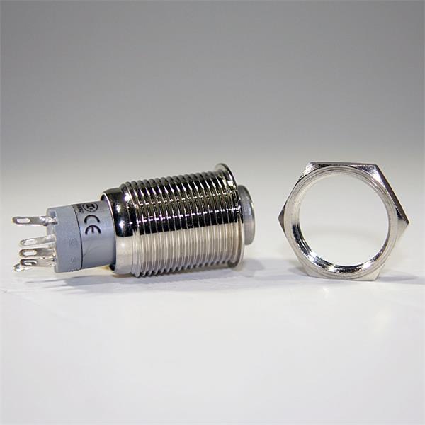 Vollmetall-Druckschalter mit oder ohne Ringbleuchtung