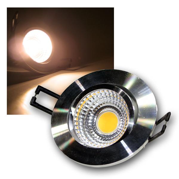 LED Einbauleuchte COB-3 silber 3W 250lm warm weiß