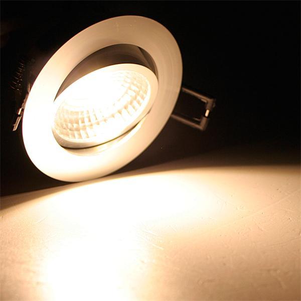 230V LED Einbaustrahler schwenk- und drehbar mit starken 250lm Lichtstrom