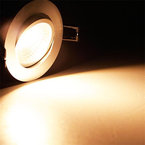 230V LED Einbaustrahler schwenk- und drehbar mit starken 350lm Lichtstrom