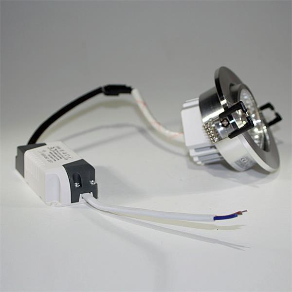 LED Einbauspot mit einer starken 5W Hochleistungs-COB-LED und verbautem LED-Trafo