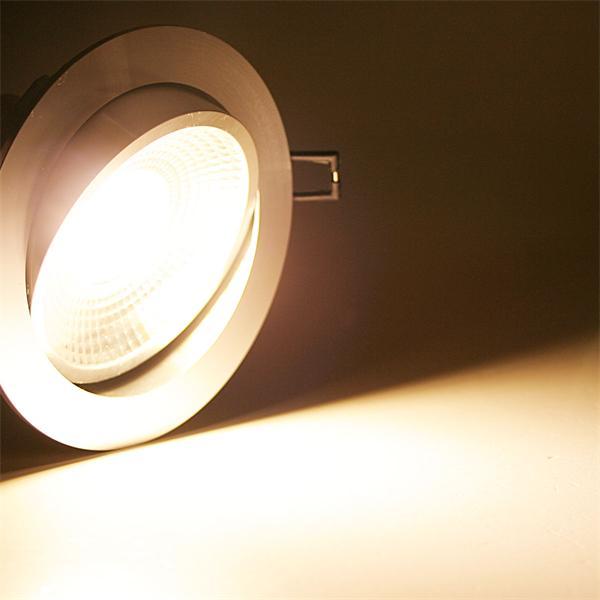 230V LED Einbaustrahler schwenk- und drehbar mit ultra-starken 600lm Lichtstrom