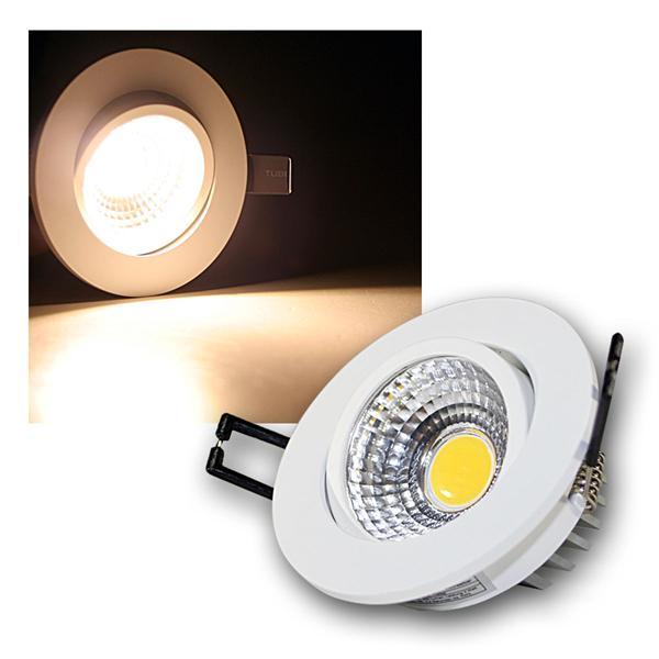 LED Einbauleuchte COB-3 weiß 3W 250lm warm weiß