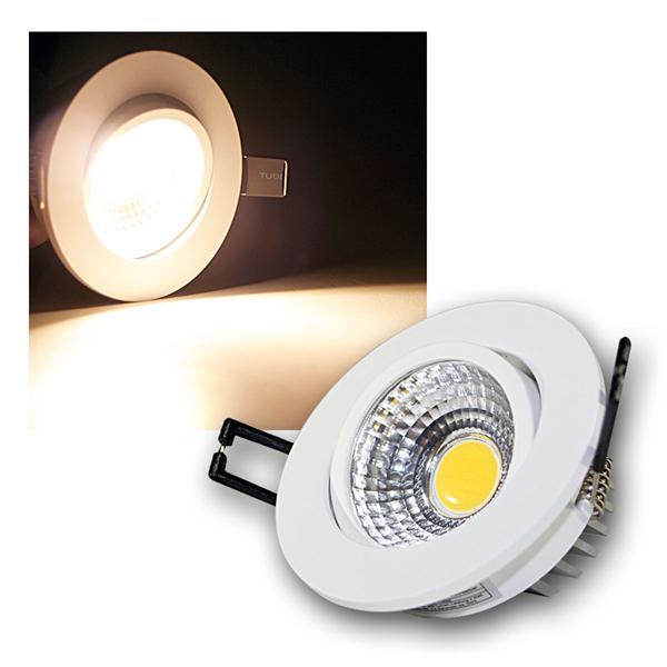 LED Einbauleuchte COB-5 weiß 5W 350lm warm weiß