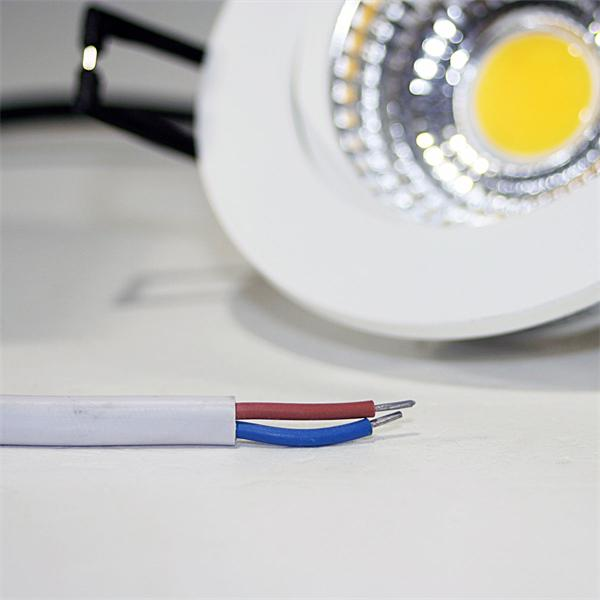 LED Downlight für 230V mit ca. 5W Verbrauch und losen Kabelenden