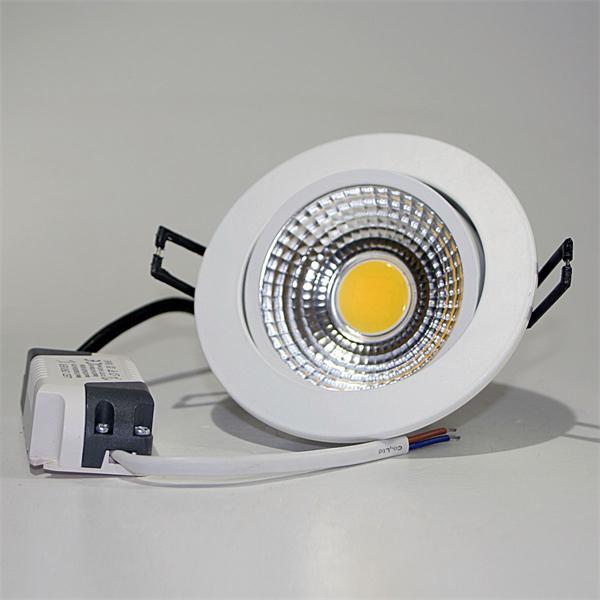 LED Einbauspot mit einer starken 7W Hochleistungs-COB-LED und verbautem LED-Trafo