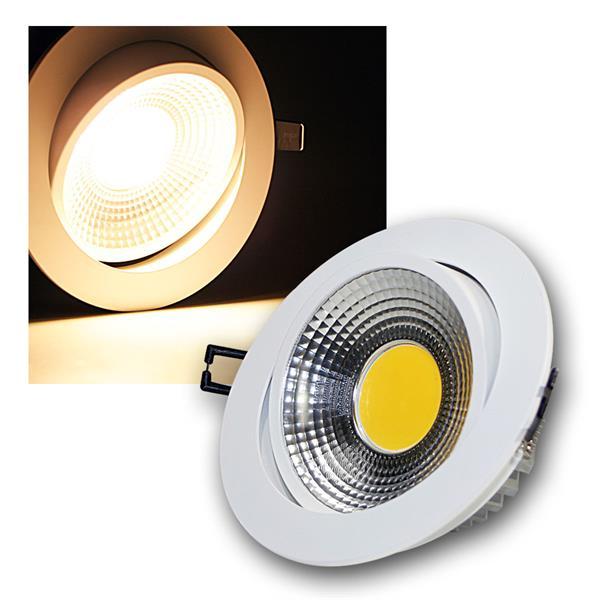 LED Einbauleuchte COB-10 weiß 10W 600lm warm weiß