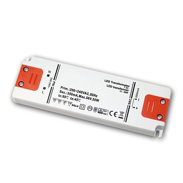Slim LED Trafo Konstantstrom 350mA, 11-20W / 56V