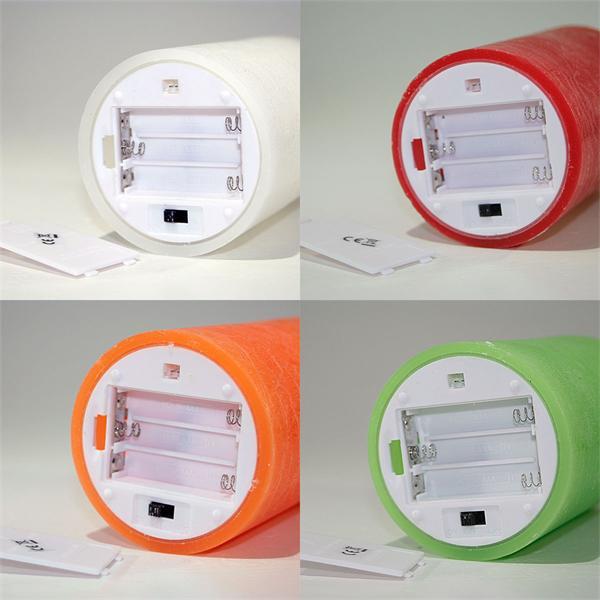 Batteriebetriebene LED-Echtwachskerzen