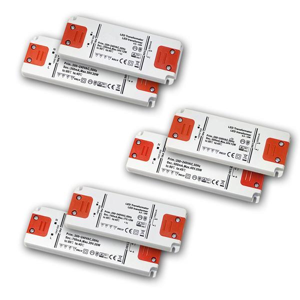 Slim LED Trafo Konstantstrom 350/500/700mA