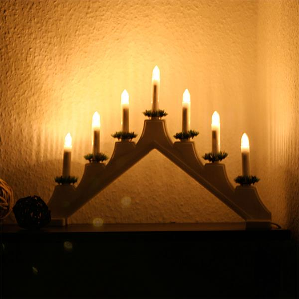 LED E10 Ersatzkerze spitz für Schwibbögen oder Lichterketten