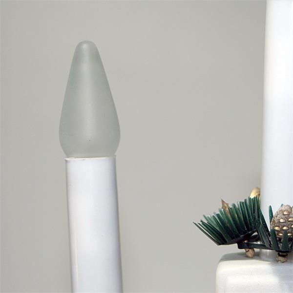 LED Spitzkerze E10 mit mit dem Maß 18x55mm (ØxL) für den Innenbereich