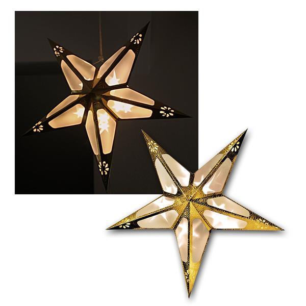 LED Stern Weihnachtsstern Leuchtstern Gold